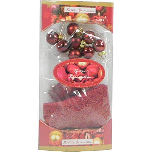 Festive Décoration de Noël en forme d'étoile et de Sable de décoration Rouge