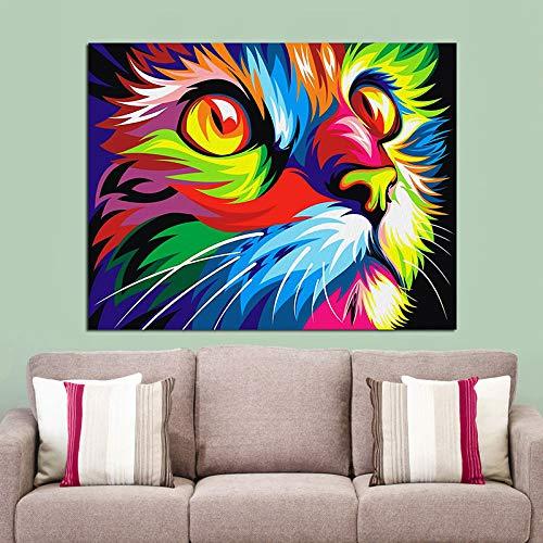 GJQFJBS Hd Aquarell Wilde Tier Ölgemälde Poster Und Bild Drucken Leinwand Malerei Wohnzimmer Sofa Dekoration A2 50x70 cm