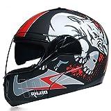 Amantes de los cascos de moto Flip Face Cascos abatibles modulares Cascos de moto para mujer Casco integral modular Cascos de moto modulares con visera incorporada