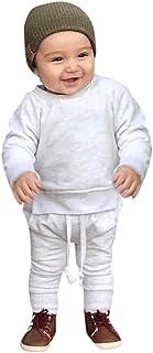 0-2 Años,SO-buts Niños Pequeños Niños Bebés Niños Niñas Caída Color Sólido Tops Pantalones Ropa De Casa Ropa Informal Traj...