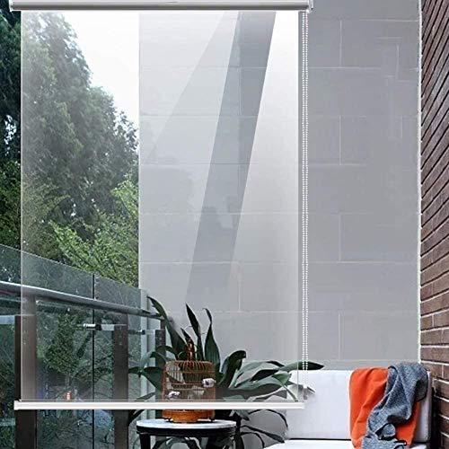 Persianas enrollables Estores Patio Balcón Impermeable Transparente, Persianas de Ventana de Plástico de PVC Transparente con Accesorios, Pérgola Gazebo (Size : 80x160cm/W×L)
