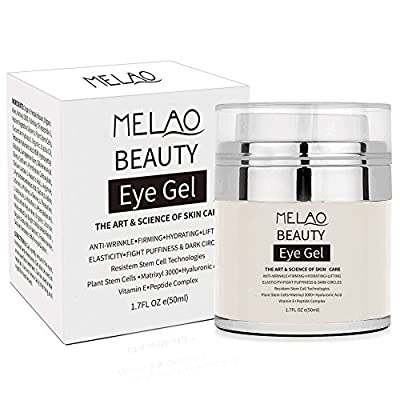 MELAO 50g Dark Circles Remove Eyes Cream Hydrating Hyaluronic Acid Eye Gel Firming Anti Puffiness Anti Wrinkle