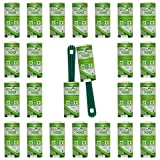 Quitapelusas 24 Rodillos +2 Mangos - 95% Plástico Reciclado - Rodillo Quitapelos Mascotas - 24 Hojas Extra Adhesivas - Rollo Adecuado para Polvo, Ropa, Pelusas. Made in Italy by Today
