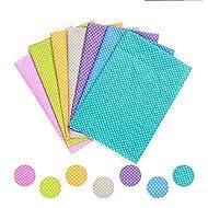 Cotton Craft Fabric Bundle Patchwork KINGSO 7pcs 50X50cm Squares Quilting Sewing Patchwork Different Pattern Cloths DIY Scrapbooking Artcraft Fabric (Colorful)