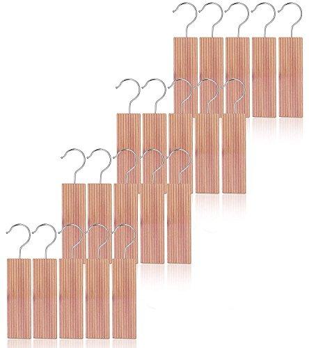 kilocircle Cedar Hang ups for Closet 20pcs Nature Moth Repellent with Cedar Fragrance-Standard Size 6.5''x1.9''X0.5''
