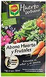 Compo Abono ecológico natural con guano para todo tipo de plantas, 1 kg, 33 m, 22 X 14.2 X 4.7 Cm, 1240122011