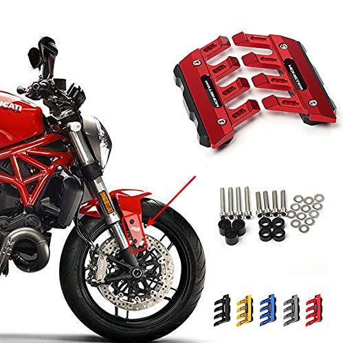 ZMMWDE Protector de Horquilla Delantera de Motocicleta Fender Slider Accesorios Guardabarros,para Ducati...