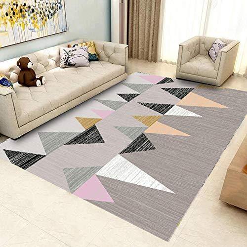 HXJHWB Alfombra Shaggy Pelo Salón Precio - Sala de Empalme de triángulo Irregular Multicolor.-50cmx80cm