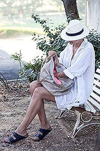 TBSCWYF Vestido Suelto de Bikini Mujer Ropa de Baño Playa Traje de Baño Vestido de Playa Blusas Chales Bikini Camisolas Verano Blusa de Playa con Abrigo de Color Liso (Blanco)