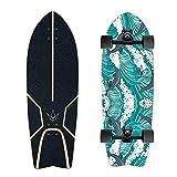 Compétences Skateboard 29' Carver Surf Planche À roulettes Professionnelle, 7-Histoire Pont D'érable Canadienne, City Road Land Cruiser Complet, Adapté pour Les Adultes, Les Enfants, Filles,No.1