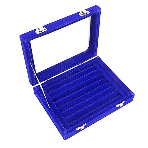 Ivos Terciopelo anillo caja caja aretes anillo joyería