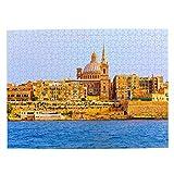 Malta iglesia Jigsaw Puzzle 500 piezas para adultos niños de madera regalo recuerdo 20.5 x 15 pulgadas (FX03780)