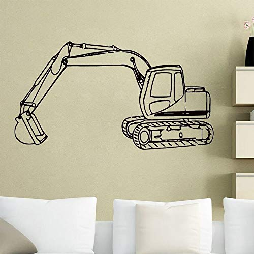 Opprxg Adesivi murali Escavatore Decorazione della casa Decorazione cameretta Bambini Decorazione della Stanza dei Bambini Asilo Adesivo murale Carta da Parati Poster 42 cm x 73 cm