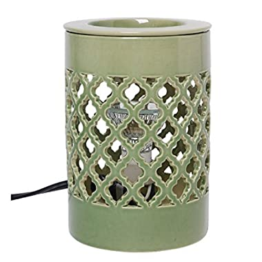 Hosley Ceramic Electric Candle Warmer for Cube Wax, Tart Wax, Fragrance Oil. Ideal for Spa and Aromatherapy. Use with Brand Wax Melts/Cubes, Essential Oils and Fragrance Oils. O3