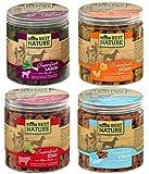 Dehner Best Nature Hundesnack-Mix, Superfood, Lamm, Huhn, Rind und Fisch, 4 Dosen (380 g)