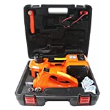 M PLUS 4 in 1 12V DC 5T (11023lb) Electric Hydraulic Floor Jack With Inflating Pump,Compact Wrench and...