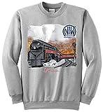 Norfolk and Western 611 Authentic Railroad Sweatshirt Adult Medium [10018] Gray