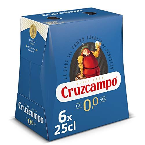 Cruzcampo 00 Cerveza - Pack de 6 Botellas x 250 ml (Total: 1.5 L)
