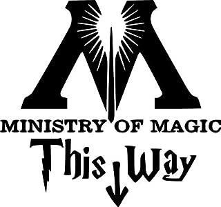 DW   Ministry of Magic, Die Cut Vinyl Decal Sticker for Walls, Laptop, Cars, Vans, Trucks,   Black 5 x 4 inches