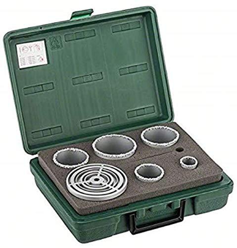 Bosch 2 609 255 629 - Juego de 5 sierras de corona, con plaquita de metal duro
