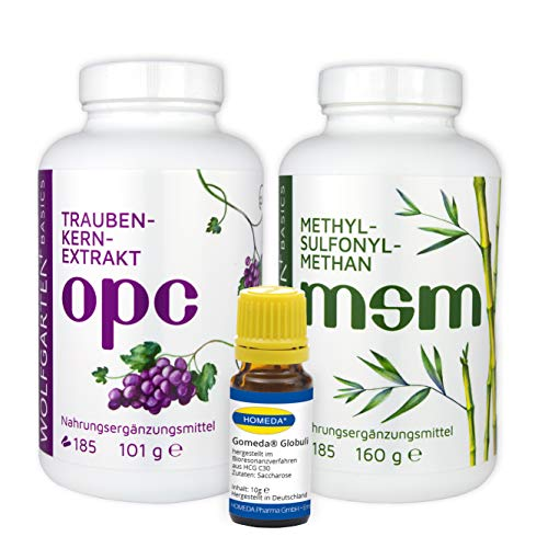 HOMEDA GOMEDA Globuli + OPC + MSM - hCG-Aktivator-Globuli - OPC Traubenkernextrakt (430 mg / Kapsel) - MSM Methylsulfonylmethan (750mg / Kapsel)