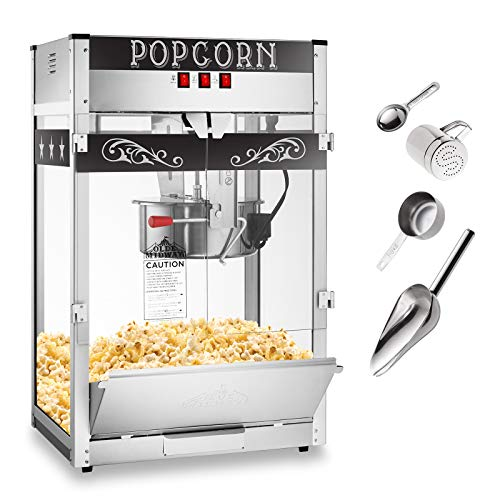 Find Cheap Olde Midway Commercial Popcorn Machine Maker Popper with Extra Large 16-Ounce Kettle - Bl...
