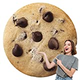 BATTILO HOME Funny Flannel Cookie Chocolate Blanket, Sofa Soft Throw Blankets, Realistic Food Blanket, Perfect for Camping, Home Bed Sleeping Blanket for Kids Child Dog, Diameter 71 inch