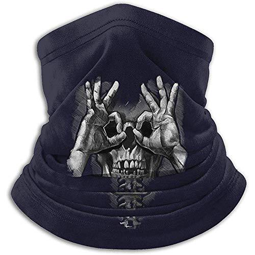 BaoBei-shop Death Wish Funny Skull Skeleton Sciarpa antivento Passamontagna Maschera da sci Maschera per il viso freddo Cappelli invernali Copricapo Ghette Collo
