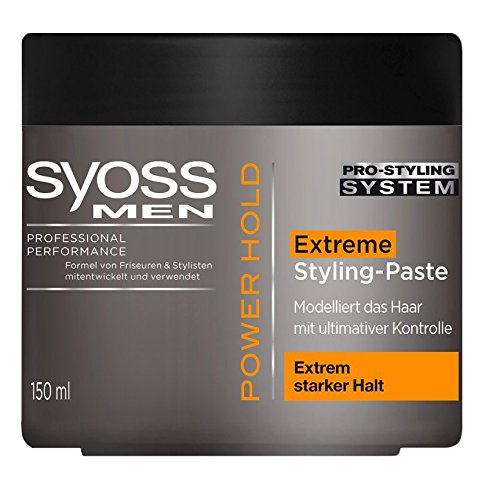 6 x Hold Syoss Men Stromversorgung/Extreme Styling Paste/je 150 ml