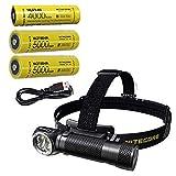 Combo: Nitecore HC35 Rechargeable LED Headlamp -2700Lm w/2x NL2150HPi & NL2140 Batteries +Eco-Sensa USB Charging Cord