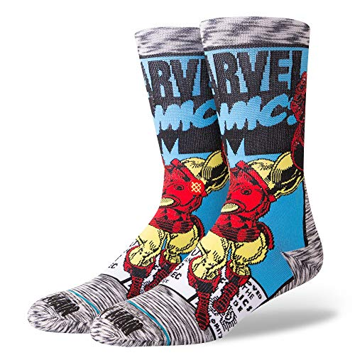 Stance Marvel Iron Man Comic Everyday Light Cushion Calcetines Hombre Gris