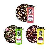 Tiesta Tea - Loose Leaf Tea Tin Set, High to No Caffeine, Hot & Iced Tea, Variety Pack with Black, Green & Hibiscus Tea, Natural Ingredients, Tea Assortment