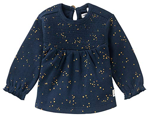 Noppies Baby-Mädchen G Regular LS Colesberg AOP T-Shirt, Black Iris-P554, 50