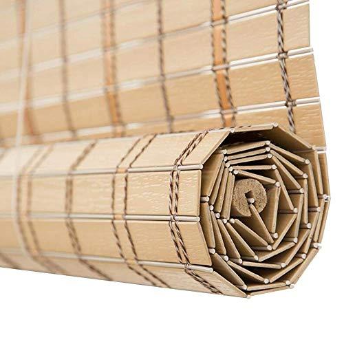 Wghz Material de PVC para persianas venecianas, imitación de bambú, Resistente al Fuego a Prueba de Fuego para persianas enrollables Interiores/Exteriores, tamaño Personalizable