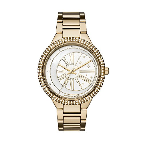 Michael Kors Damen Analog Quarz Uhr mit Edelstahl Armband MK6550