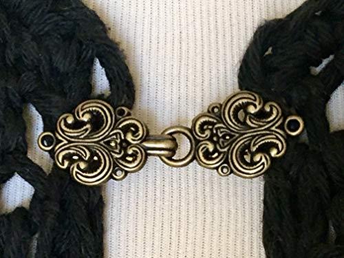 The mattie gold tone metal Celtic swirl sweater clasp