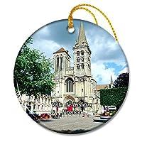 ヴィルドゥリジューフランス大聖堂サンピエールクリスマスオーナメントセラミックシート旅行お土産ギフト