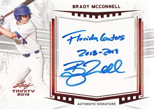 2019 Leaf Trinity Baseball #A-BM2 Brady McConnell AUTO