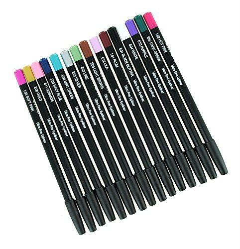Eyeliner & Lip Liners 15 Color Pencil set
