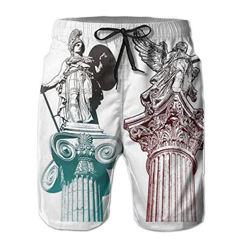 Estatua clásica Griega Roman Athena Mens Swim Trunks