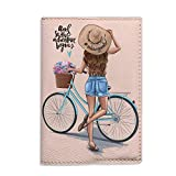 And so the Adventure Begins passport Holder for women eco leather fashion cover for documents handmade gift idea