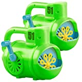 infactory Seifen-Blasen-Maker: 2er-Set manuelle Seifenblasen-Maschinen im U-Boot-Look, grün/blau...