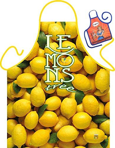 Zitronen Motiv Kochschürze Zitrone Zitronenbaum Schürze : Lemons -- Themenschürze mit Minischürze für Flaschen