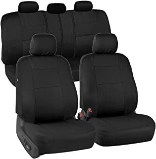 PolyCloth Black Car Seat Covers - EasyWrap Interior Protection for Auto