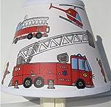 Firetruck Night Light Boys Truck Childrens Nursery Room Decor