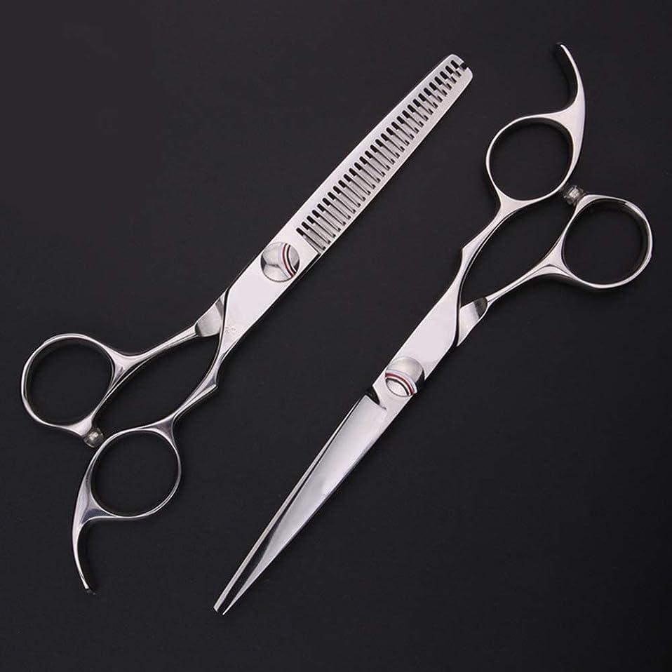 CAFUTY 新しい440Cプロ理髪はさみ、6インチ理髪はさみセット (色 : Silver)