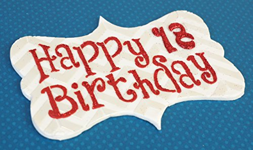 Happy Birthday Plaque Cake Stencil by Designer Stencils