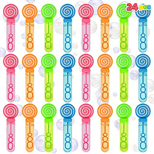 JOYIN 24 Pack Mini Bubble Wands for Themed Birthday, Wedding, Bubble Maker Toys for Kids, Summer Gifts Bubbles Fun Toys