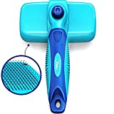 CleanHouse Pets Brush for Shedding & Grooming - Self Cleaning! UPGRADED VERSION: Pain Free Bristles Gently Removes Loose Hair on Cats & Dogs. Simply Click Button & Hair Falls Out! For All Hair Types.