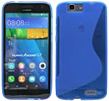 S Line TPU–Carcasa para Huawei Ascend G7Funda de Silicona en Azul @ Energmix